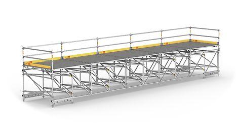 Для большепролетных рабочих конструкций и временных пешеходных мостов.