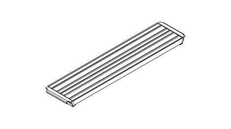 Belagtafel Stahl UDS 32 x 150