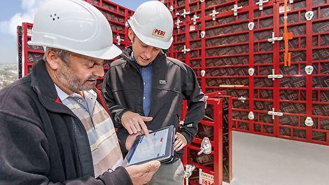 Vielfältige Services und Softwares vervollständigen das Angebot von PERI und stellen den zeit-, kosten und qualitätsgerechten Einsatz der PERI Schalungs- und Gerüstsysteme im Baubetrieb sicher.