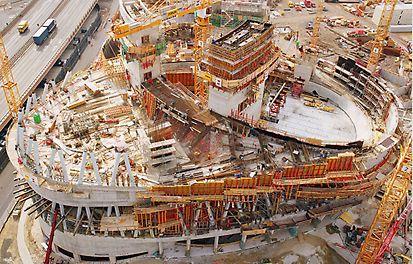 Izgradnja muzeja Mercedes-Benz, Stuttgart, Njemačka