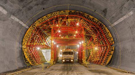 Per la costruzione di tunnel, ponti ed edifici multipiano, PERI sviluppa il sistema modulare VARIOKIT per opere infrastrutturali con componenti standard a noleggio