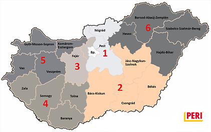 Zsalu értékesítési területek, Magyarország