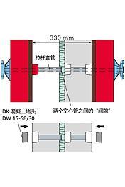 Bei zweischaligen Wänden ist zu beachten, dass die Hüllrohre im Bereich der Isolierung unterbrochen sind. Für den Luftschall gilt hier dieselbe Empfehlung wie bei einschaligen Wänden.