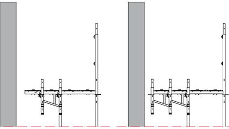 Console brackets can be extended with the Easy Support or positioned side-by-side; an advantage, e.g. for assembly of the Insulation Composite System.