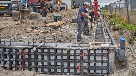 DUO est l'alternative parfaite au coffrage traditionnel pour le constructeur industriel.