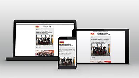 Ontdek de PERI newsletter en blijf op de hoogte van het laatste nieuws in de sector