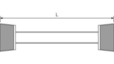 Es ist wichtig, dass die Distanzrohre des SK und DK Systems exakt gleich lang sind.