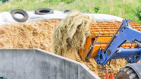Landbouwers kiezen voor DUO lichtgewicht bekisting voor de aanleg van hun silo's en kuilen.