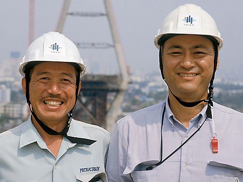 Mega Bridge, Industrial Ring Road: Akira Mihashi, Project Manager und Hirobumi Kono, Site Manager