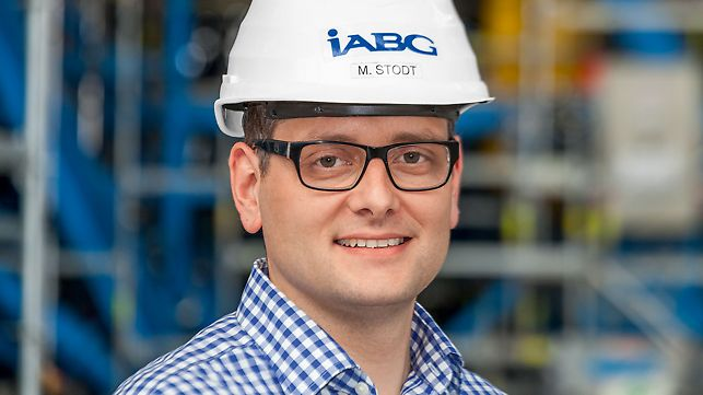 Statement of Michael Stodt, Head of Aircraft Structural Testing at IBAG, about the scaffolding system PERIup from PERI.