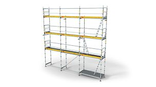 PERI UP Frame Working Scaffold T72,T104: Fast and safe assembly with guardrail in advance.