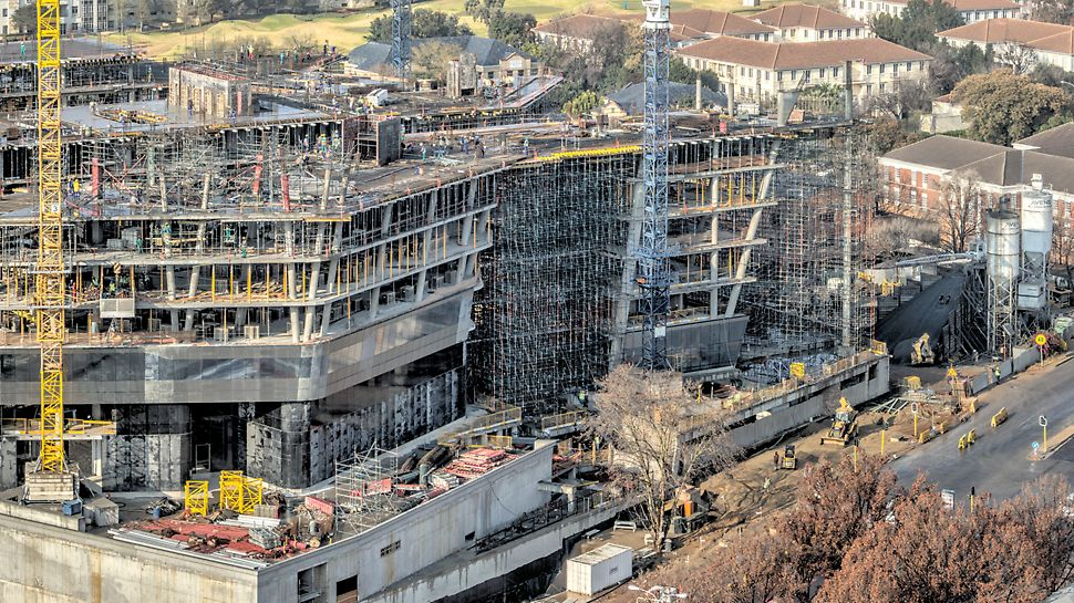 Creative formwork for energy giant - Sasol's new head office in Sandton