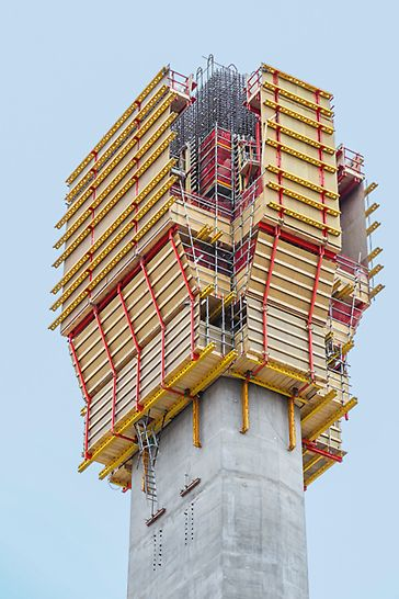 ACS Self-Climbing Formwork with enclosed working platforms