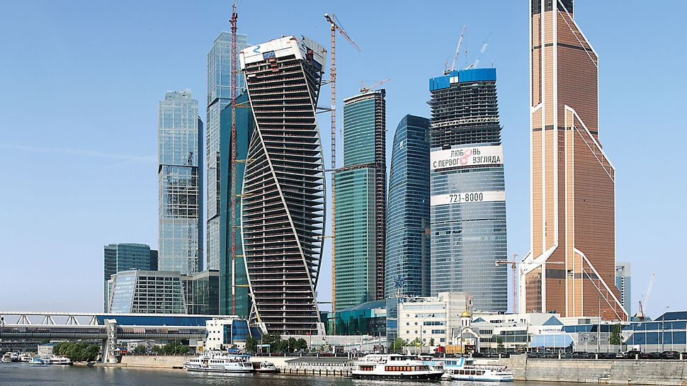 "Evolution Tower Moskau - The Evolution Tower is part of Moscow's up-and-coming, international trade centre – ""Moscow City"" – realized with PERI know-how."