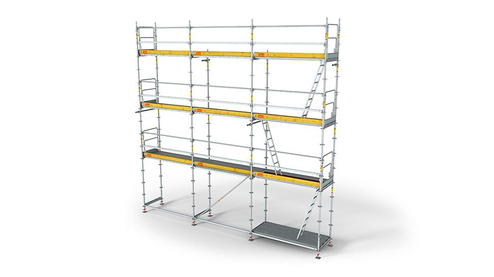 Self Leveling Scaffolding : Peri up frame working scaffold t