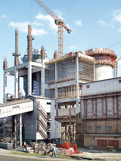 Cement plant Ivano-Frankowsk, Ukraine - For extending the cement plant, engineers from PERI Ukraine designed a comprehensive and sophisticated formwork and scaffolding solution.