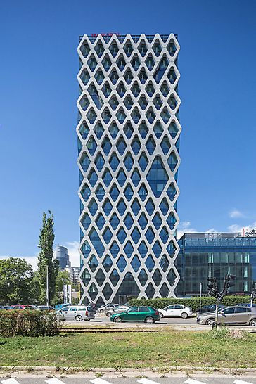 Prosta Tower, Warsaw, Poland - The 70 m high Prosta Tower has 19 floors and 5 basement levels.