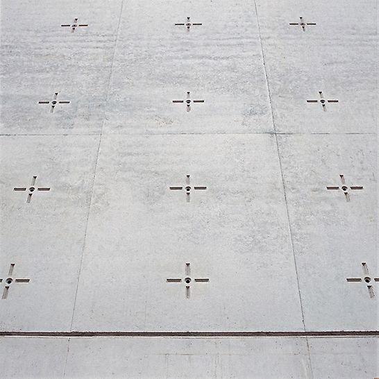 St. Canisius Church, Berlin, Germany - Matrices nailed to the plywood resulted in perfect imprints in the concrete.