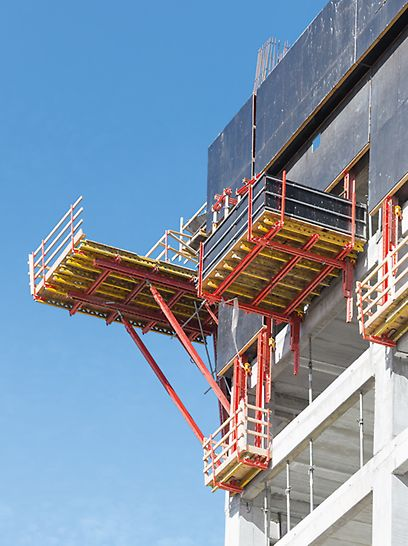 "Alon Towers ""BSR Center TLV"", Tel Aviv, Israel - specially designed corner platforms which are based on system equipment"