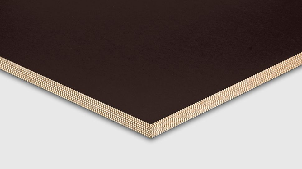 PERI formwork panel FinPly Plus reduces the swelling of the wood through film coating.
