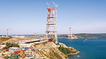 The 3rd Bosphorus Bridge has the highest concrete bridge piers in the world, and will eventually connect the European and Asian continents after its completion in 2015.
