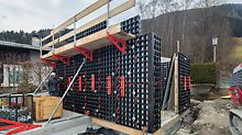 DUO in use for forming the walls for a new boathouse in Austrian Zell am See.