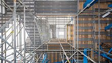 Convenient access means included with the PERI UP scaffold solution