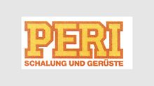 """Schalung und Gerüste"" (formwork and scaffolding) becomes part of the PERI logo from 1985-1989."