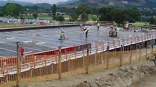 PERI è stata scelta come partner per la realizzazione delle piastre in c.a. dalle imprese di costruzione selezionate nell'ambito del progetto C.A.S.E., nato dopo il sisma in Abruzzo nel 2009