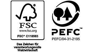 Wer, wie PERI, Produkte aus Holz aus zertifizierten Wuchsgebieten vertreibt, darf dies auf dem Endprodukt durch Anbringen des PEFC- bzw. FSC©-Logos deutlich machen.