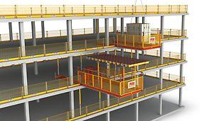 PERI RCS MP Piattaforma di carico, soluzione versatile per la movimentazione di casseforme e materiali con la gru
