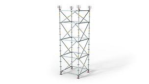 Maximální flexibilita konstrukce podpěrného lešení.