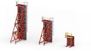 SB oporné rámy: Spoľahlivá betonáž jednostranne debnených stien do výšky 8,75m.