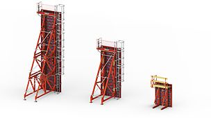 Egyoldali falak megbízható betonozása 8.75 m magasságig.