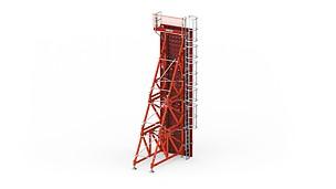 Opěrný rám SB: spolehlivá betonáž při použití jednostranného bednění stěn až do výšky 8,75 m.