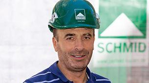 Poträt von Naim Dacaj, Hochbaupolier bei Matthäus Schmid GmbH & Co. KG, Mietingen-Baltringen