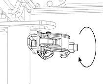 Spojka kotvení Easy se jednoduše nasadí do svislého otvoru v rámu Easy nebo v konzole.