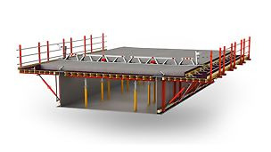 Scaffold-free cantilever formwork for steel composite and precast concrete bridges