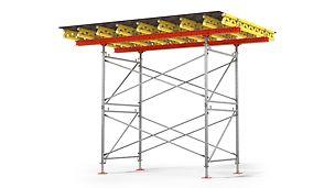 Podpěrná věž PD 8: Hospodárné podpěrné lešení pro stropní stoly a velká zatížení.
