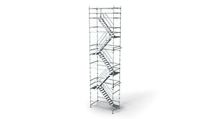 Ľahká schodisková veža pre flexibilné riešenie prístupu.