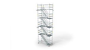 Лестничная башня высотой до 90 м и шириной маршей 75 см.