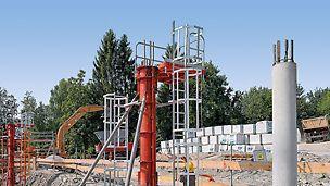Ergänzend sind auch Leiteranschlüsse für verschiedene Säulenschalungen verfügbar.
