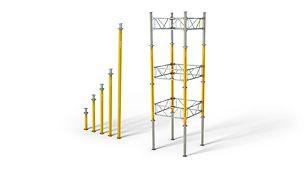 Podpory stropowe MULTIPROP: oszczędne jako pojedyncze podpory, ekonomiczne w wieżach.