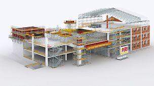 Wszechstronne zastosowanie zestawów modułowych PERI UP.