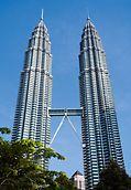 Petronas Towers, Kuala Lumpur, Malaysia - Highest building of the world in 1998