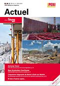 PERI Actuel 2019-2020 : Dans ce magazine client, vous trouverez un aperçu des derniers projets et innovations dans le secteur du coffrage et de l'échafaudage.