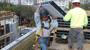 Über das vergangene Jahr hinweg wurde das universelle Schalungssystem DUO auf mehreren Baustellen in den USA und überall auf der Welt erprobt um sicherzustellen, dass alle Anforderungen der Bauunternehmer erfüllt werden
