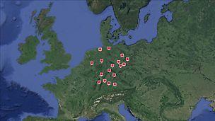 Mit 13 Niederlassungen und 4 Vertriebsbüros ist PERI in Deutschland vertreten.