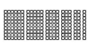 I pannelli DUO sono alti 1,35 m. Sei diverse larghezze del pannello consentono adattamenti del sistema con incrementi di 15 cm.