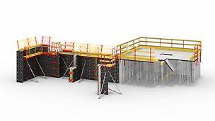 可用于浇筑墙壁、地基、柱子、楼板的通用模板。